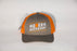 "Moder ""D"" Logo trucker hat grey/orange"