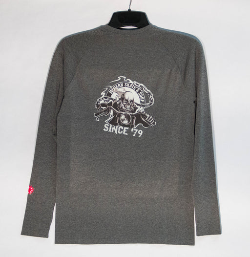"Modern ""tech t"" long sleeve t shirt grey"