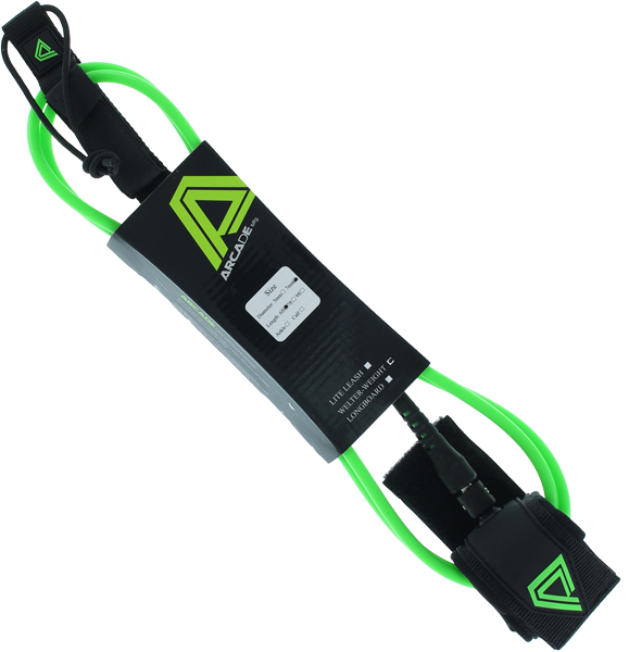 Arcade Welter Weight 6' Leash Lime/Blk 7.0Mm