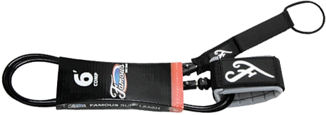 Famous Deluxe Comp 6' Black Leash