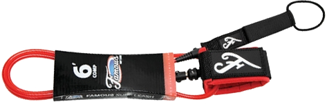 Famous Deluxe Comp 6' Red Leash