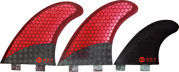 Kr X2 Twin Fin Carbo Tune Fcs Red/Black W/Stablizr