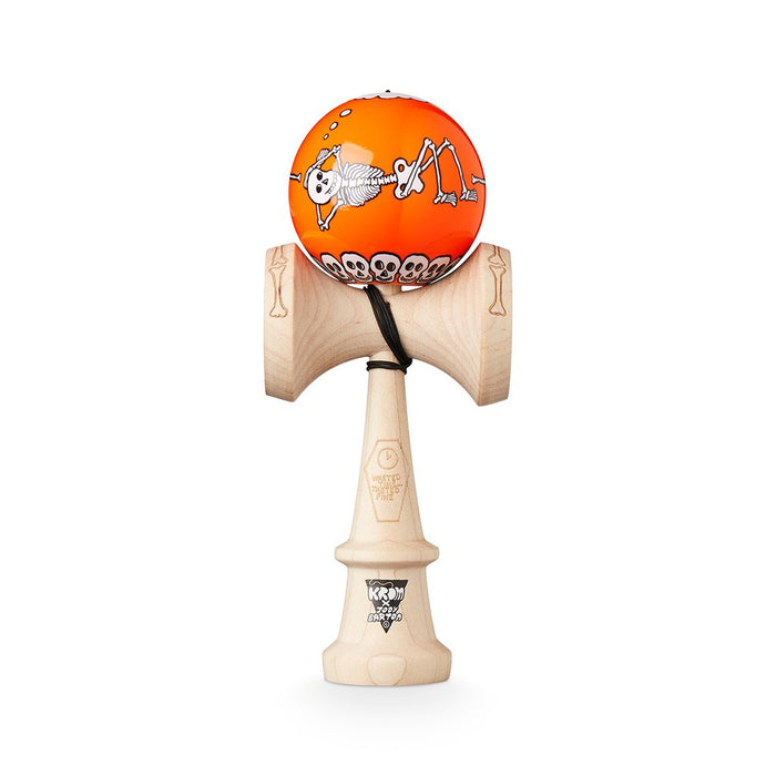 Krom X Jody Barton Kendama - Skeletons Orange