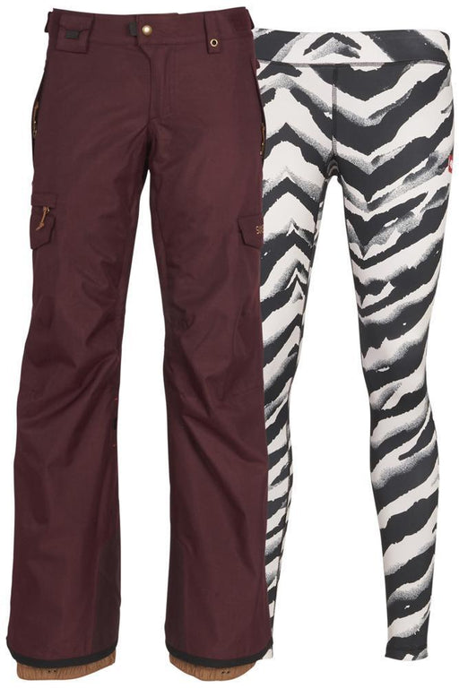 686 Women's Smarty 3-in-1 Cargo Pant - Wine Melange (2019)