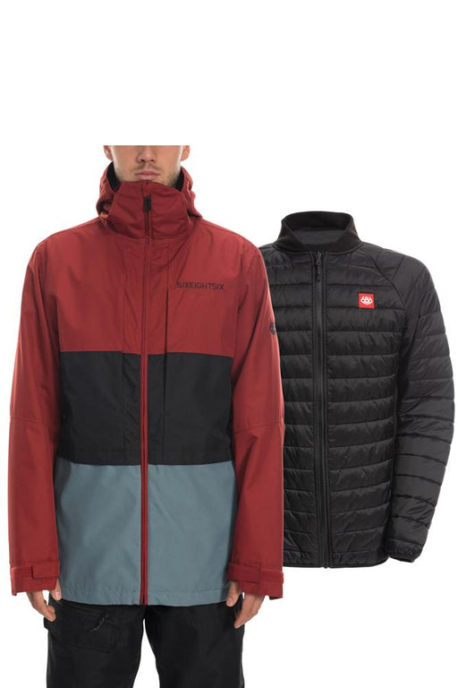 686 Smarty 3-in-1 Form Jacket - Rusty Red Colorblock (2020)