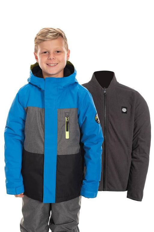 686 Kids Smarty 3-in-1 Insulated Jacket - Strata Blue Colorblock (2020)