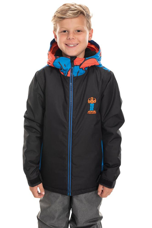 686 Kids Forest Insulated Jacket - Black Colorblock (2020)