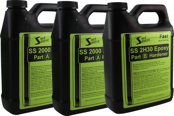 S.S. Epoxy 96Oz Set/2X32oz Resin 1X32oz Hardener
