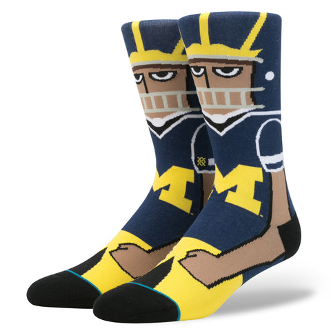 Stance U of M Socks - Maize