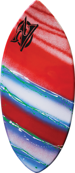 Zap Wedge Small Skimboard-40X17.5 Assorted Color