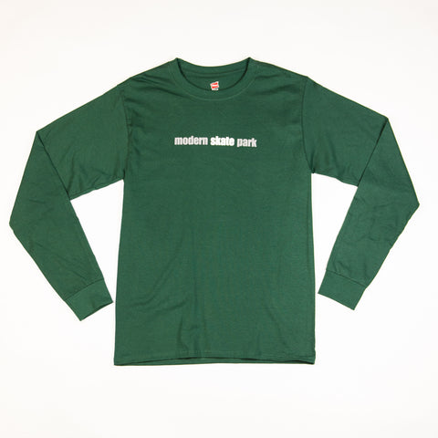 Modern Skate Park Long Sleeve Tee Shirt - Kelly Green