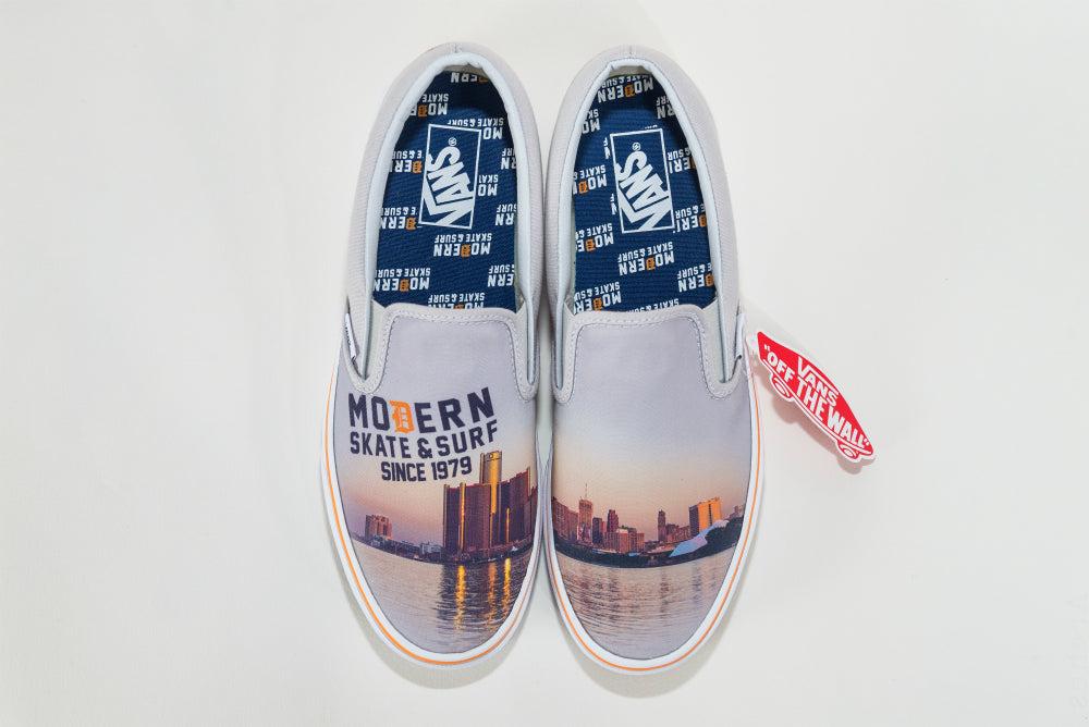 Vans X Modern Classic Slip-On - Detroit Skyline