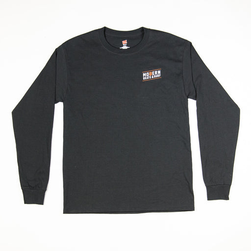 Modern Skate & Surf Original Skate Shop Long Sleeve T - Black
