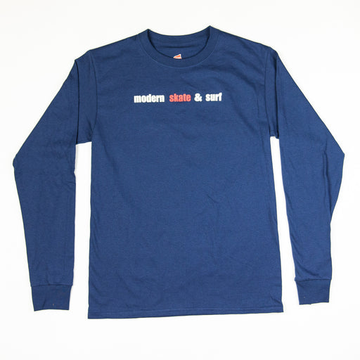 Modern Skate & Surf Long Sleeve T - Navy