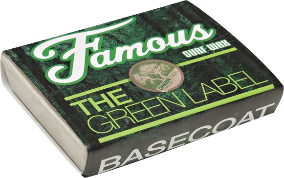 Famous Green Label Basecoat Single Bar Wax Organic