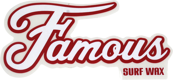 "Famous Logo 6"" Decal Single"