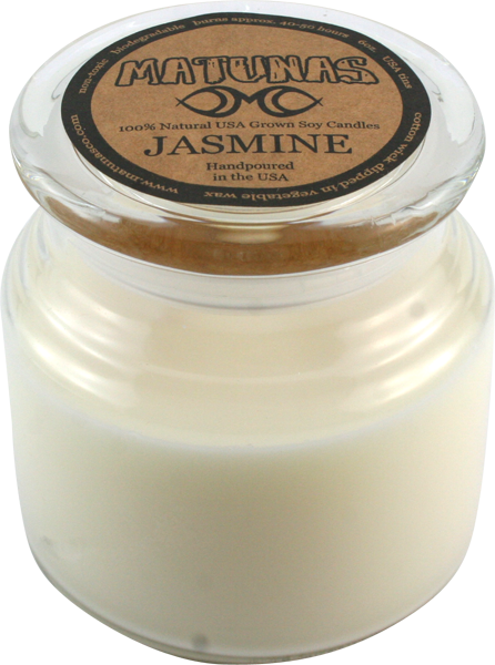 Matunas Soy Candle 22Oz Glass- Jasmine