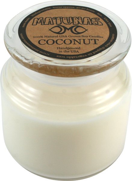 Matunas Soy Candle 22Oz Glass- Coconut