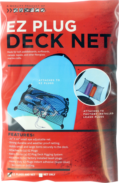 Surfco Ez Plug Deck Net Kit Black