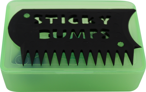 Sticky Bumps Wax Box & Comb Clear Green/Black