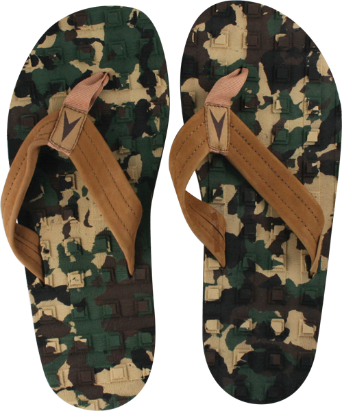 Astrodeck Sandals Camo L/8-9 Eva/Leather