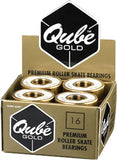Qube Gold Bearings 16 Pack - 7mm or 8mm