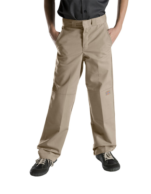 Dickies Boys Flexwaist Double Knee Pants - Desert Khaki
