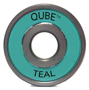 Qube Teal Bearings 16 Pack - 7mm or 8mm
