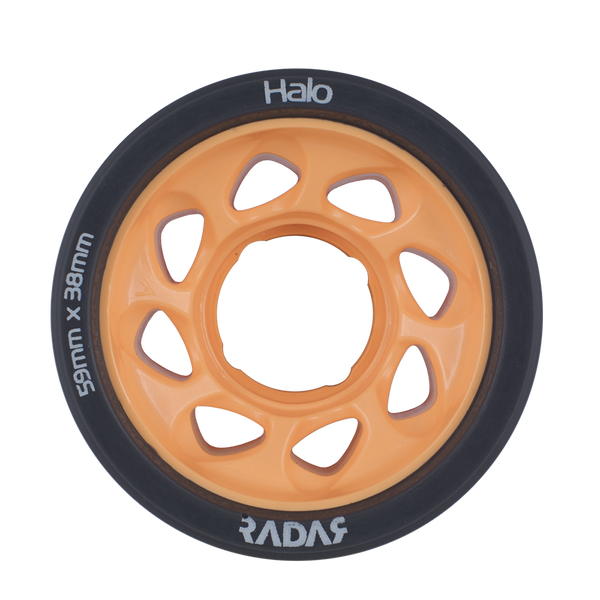 Radar Halo Roller Skate Wheels - 59mm 4 Pack