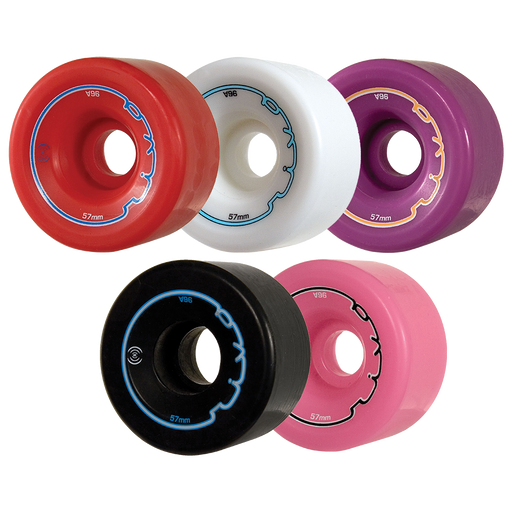 Radar Riva Roller Skate Wheels - 57mm 4 Pack