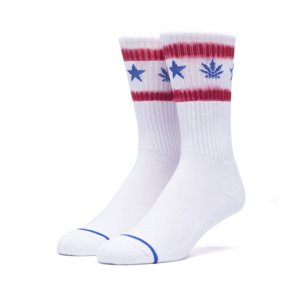 Huf Liberty Plantlife Crew Socks - White