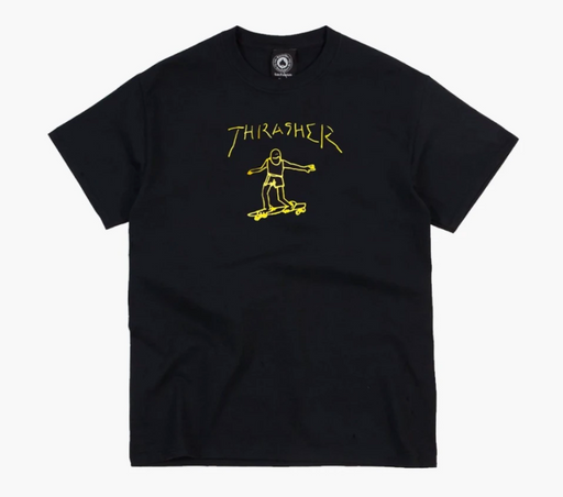 Thrasher Gonz Tee - Black/Yellow