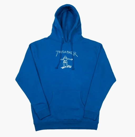 Thrasher Gonz Hoodie - Royal Blue/White