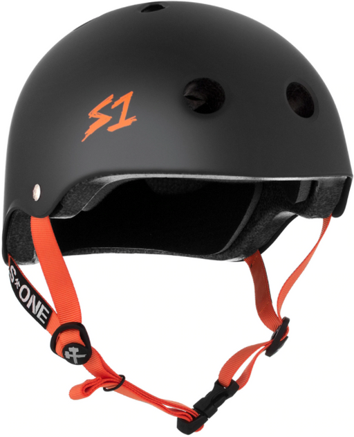 S1 Lifer Helmet - Matte Black/Orange