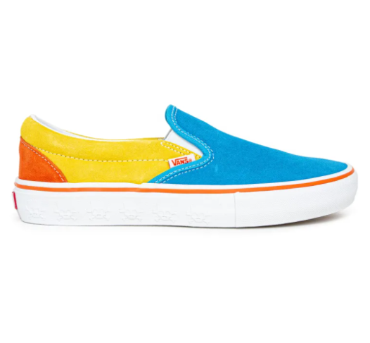 Vans X The Simpsons Slip On Pro - Blue/Yellow/Red
