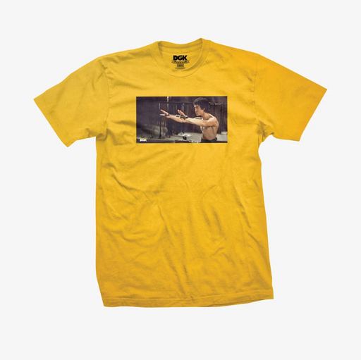 DGK X Bruce Lee Nunchucks T Shirt - Gold