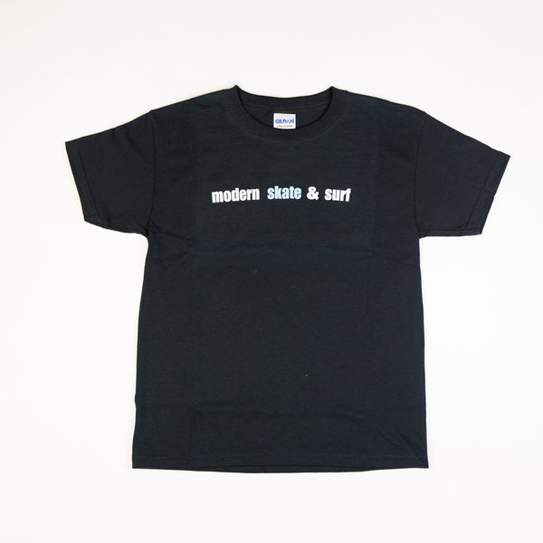Modern Skate & Surf Youth Tee Shirt - Black