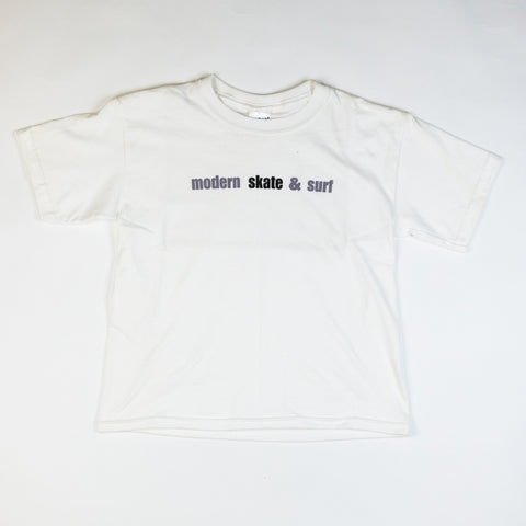 Modern Skate & Surf Youth Tee Shirt - White