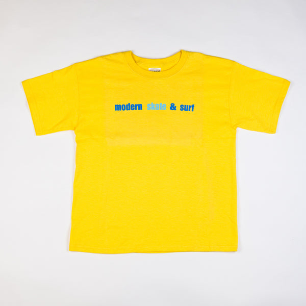Modern Skate & Surf Youth Tee Shirt - Yellow