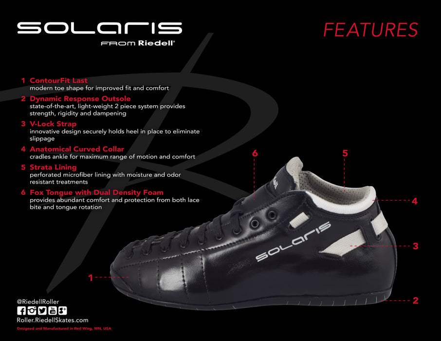 Riedell Solaris Roller Skate Boots