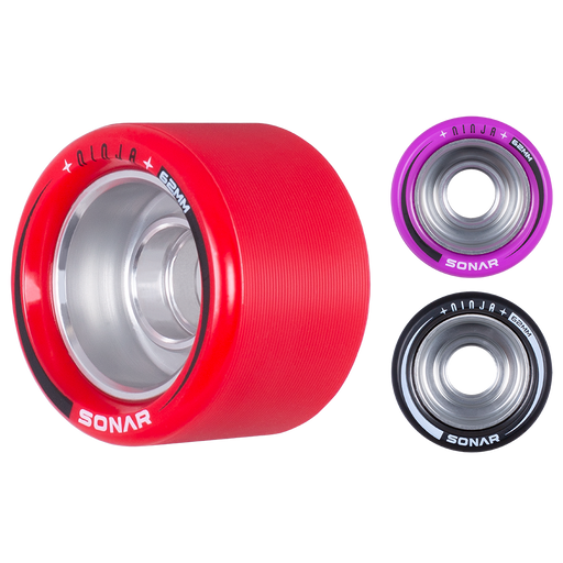 Sonar Ninja Speed 62mm Roller Skate Wheels 4 Pack