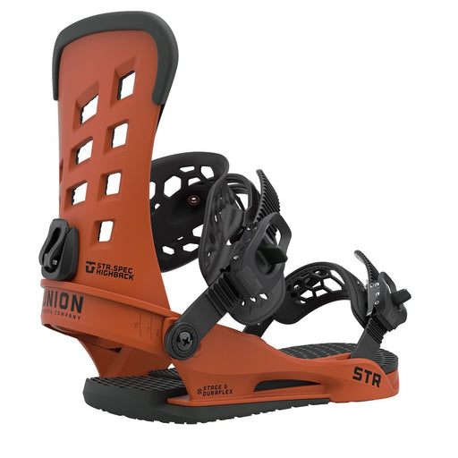 Union STR Snowboard Bindings - Burnt Orange (2021)