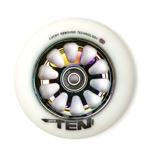 Lucky Ten 110mm Wheel - Neochrome/White
