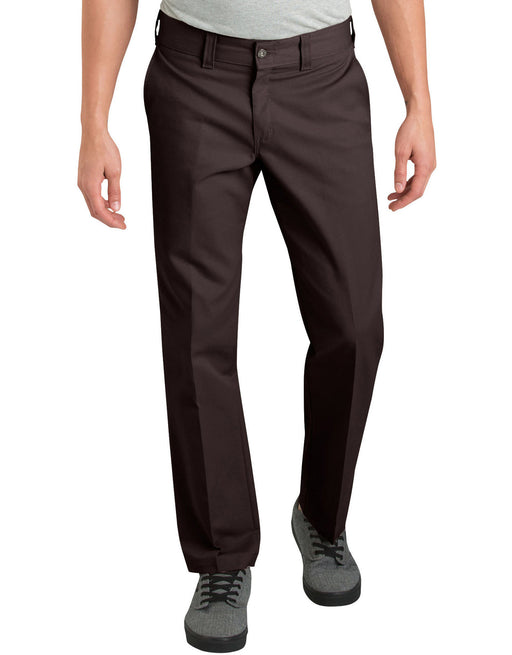 Dickies '67 Slim Fit Straight Leg Work Pants - Chocolate Brown