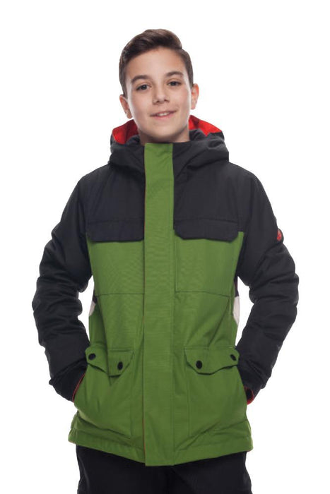 686 Kids Flash Insulated Jacket - Camp Green Camo Colorblock (2019)