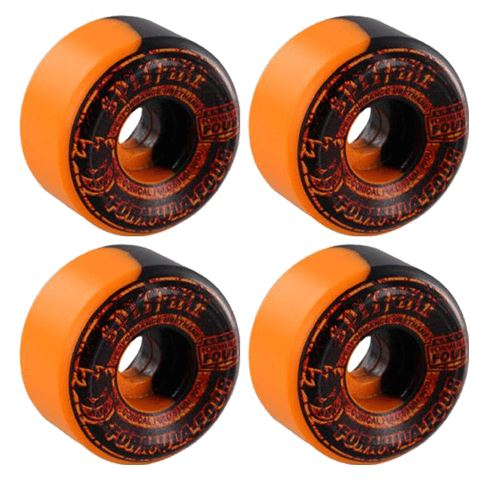 Spitfire Formula Four Conical Full Shape 99 Duro Swirl Embers Wheel