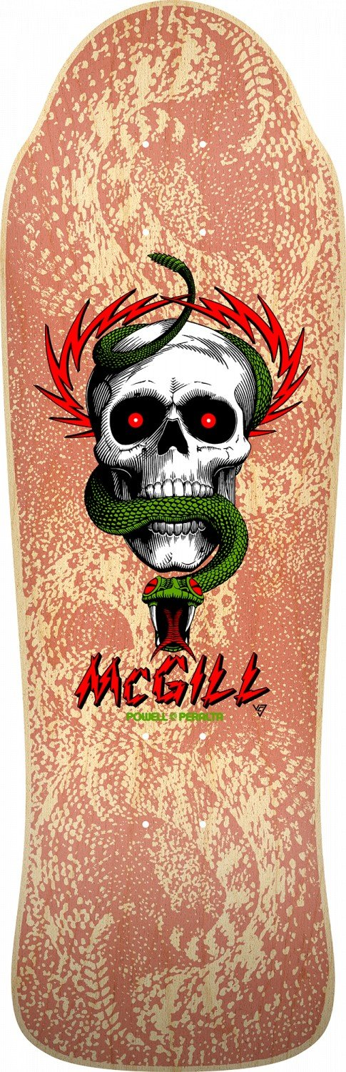 Bones Brigade Mike McGill 11th Series Reissue Skateboard Deck Natural