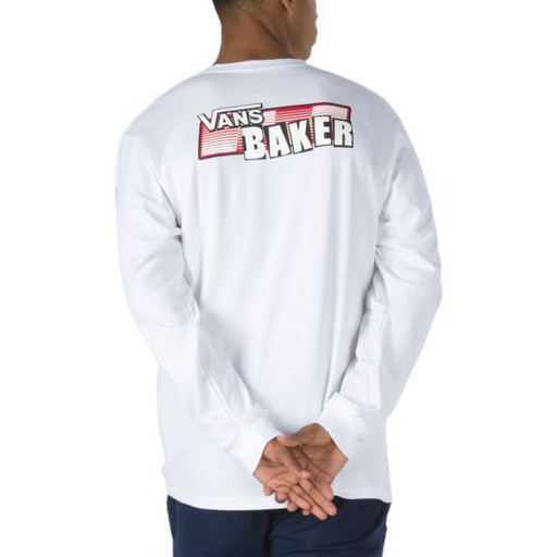 Vans X Baker Speed Check Long Sleeve T Shirt - White