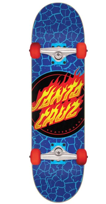Santa Cruz Flame Dot Complete Skateboard