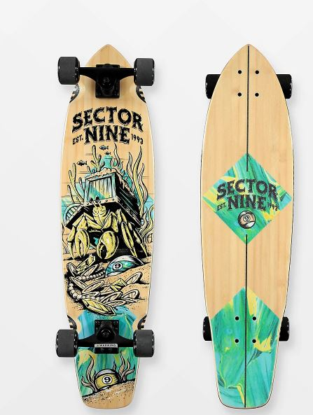 "Sector 9 Fortunate 34"" Longboard Complete"